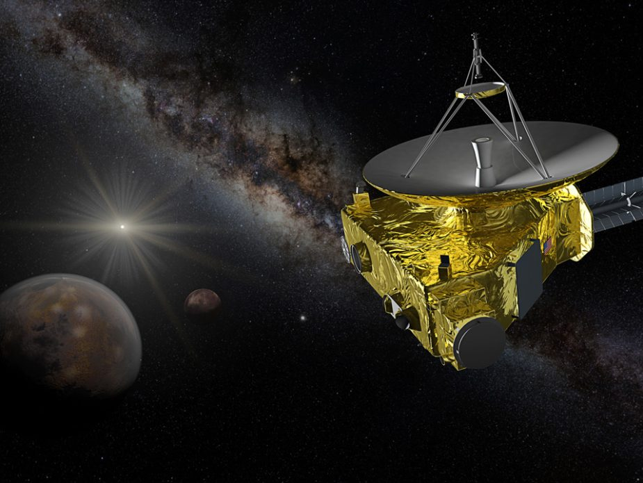 New-Horizons-approaching-Pluto-and-Charon