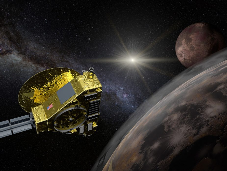 New-Horizons-space-probe-Pluto-flyby-in-action